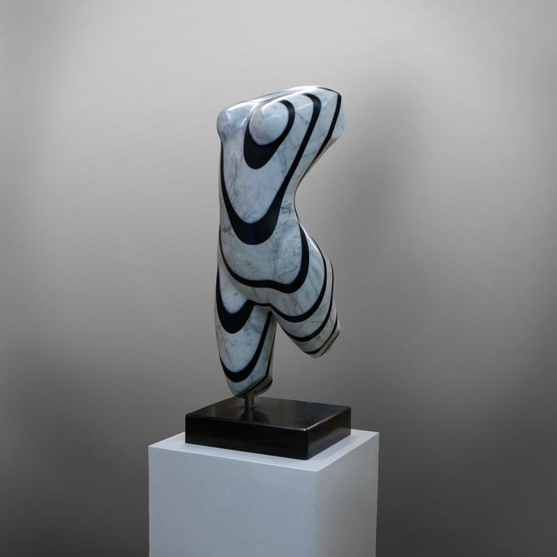 ''Contour of dream'' The sculpture is made of Carrara and Slate