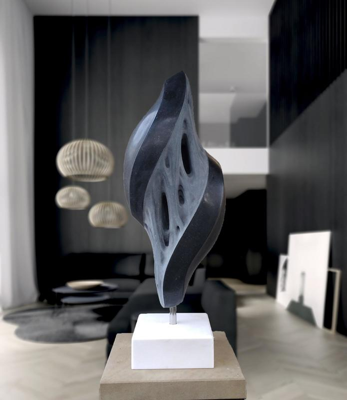 ''FUSION'' The sculpture is made of Irish Kilkenny marble  Piotr Gargas  www.piotrgargas3dsculpture.com