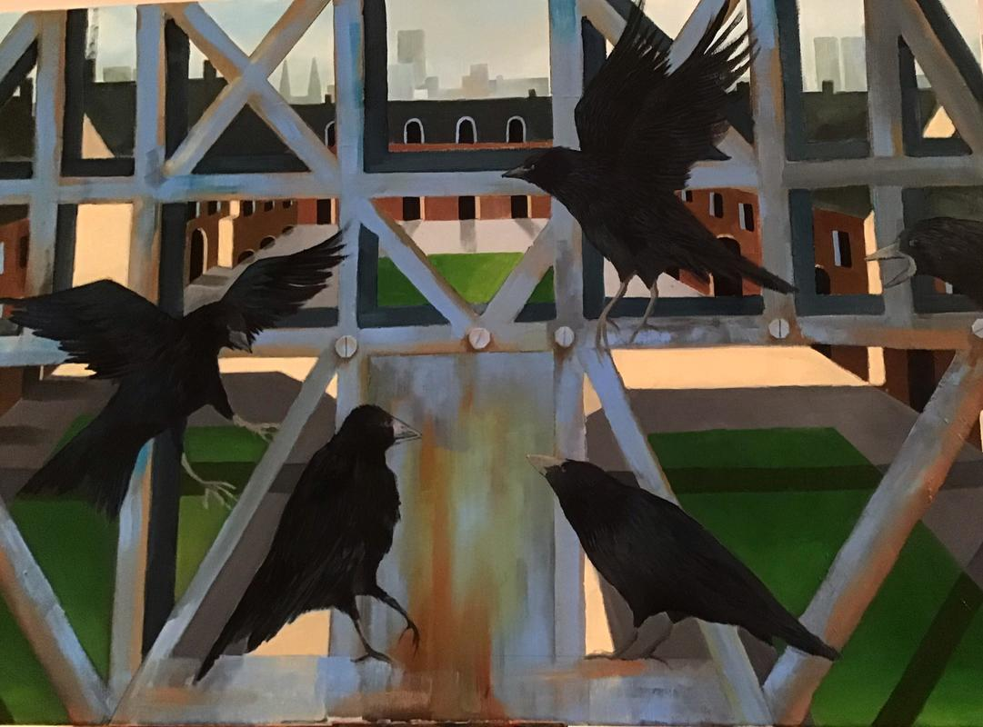 Get thee to a Rookery. Oil on canvas.