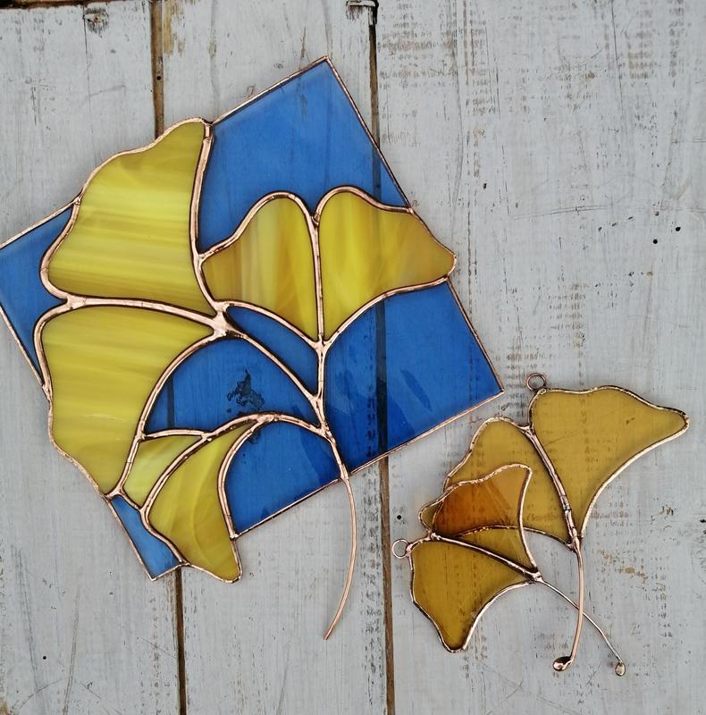 Ginkgo panel £65 and Leaves £12/£16
