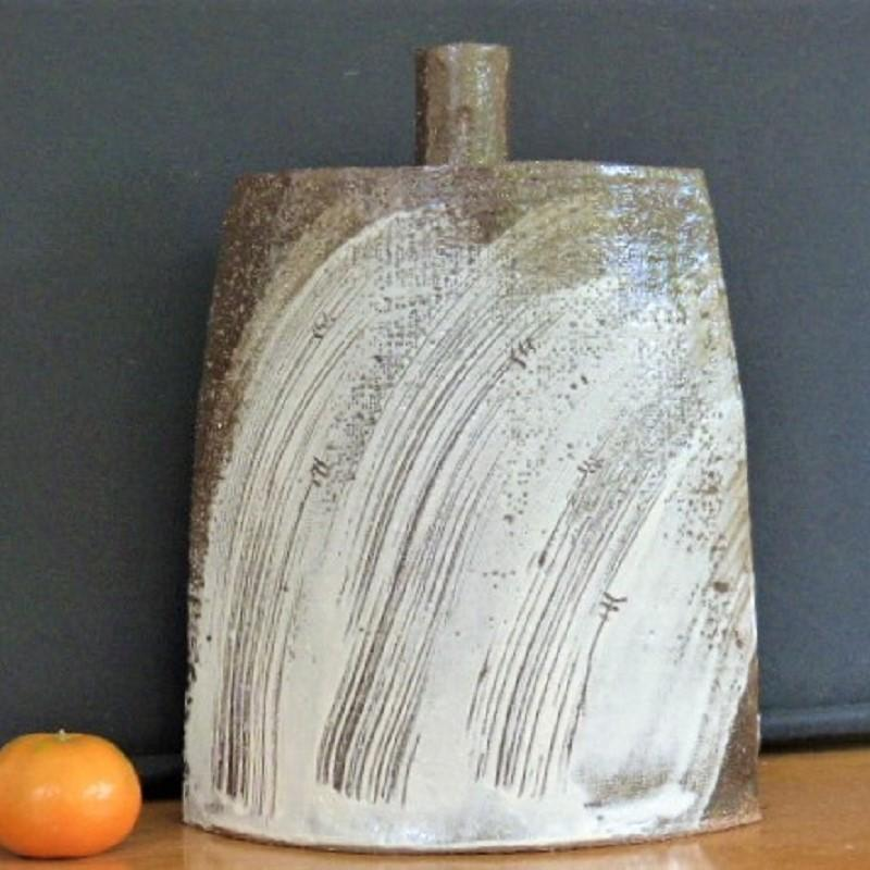 Slip Decorated Flask, 29cm tall, £80