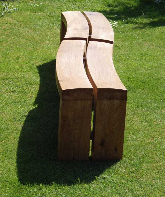 Curved oak Northways benches