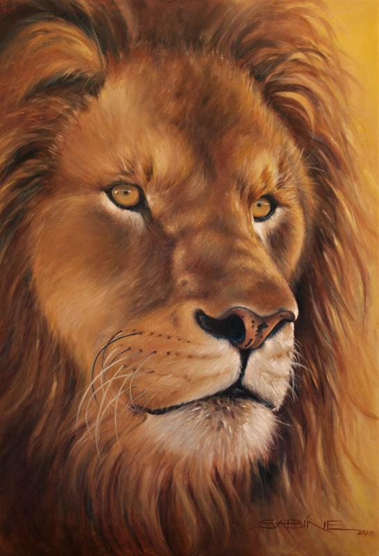 AMBER EYES Oil on Canvas 50 x 70cm, £520