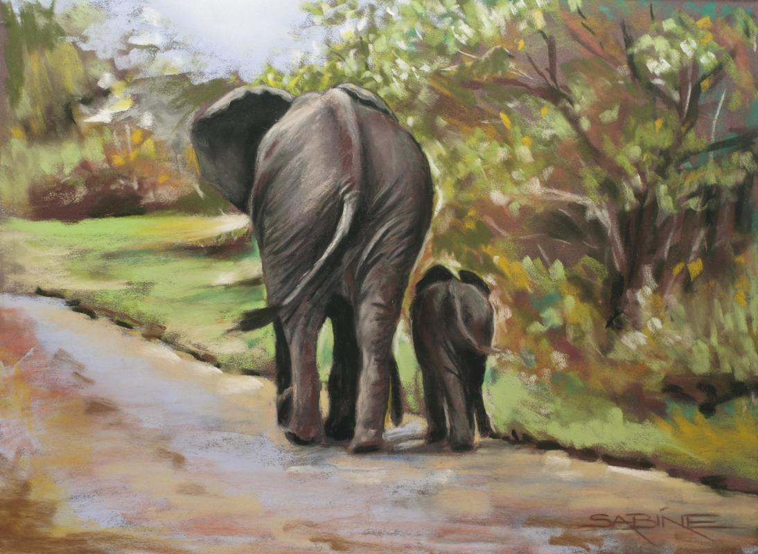 MOTHER & BABY ELLIE Pastel on Pastelmat 30 x 40cm, £250