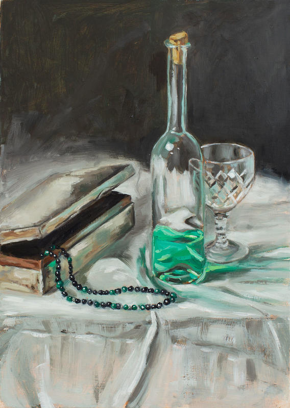 'Absinthe' 14x10 inches, oil on panel