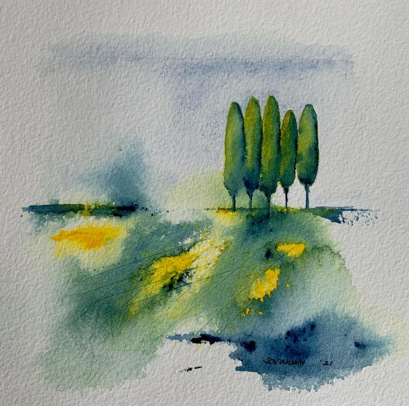 Another lovely day * Watercolour on paper