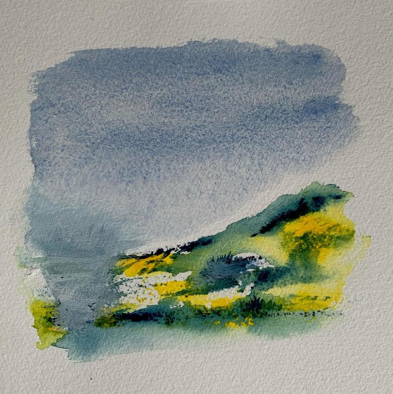 Down to the lake * Watercolour on paper