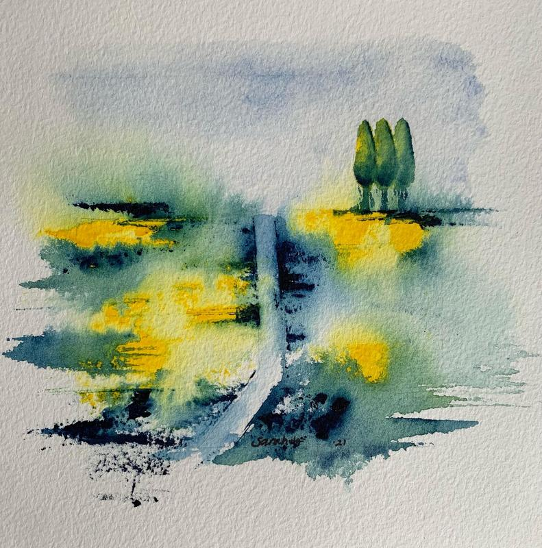 Road to nowhere * Watercolour on paper
