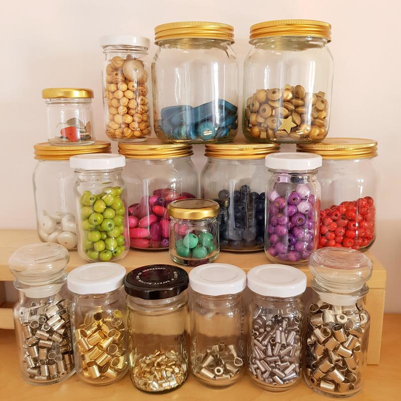 Beads and Fastenings used in making my Journals