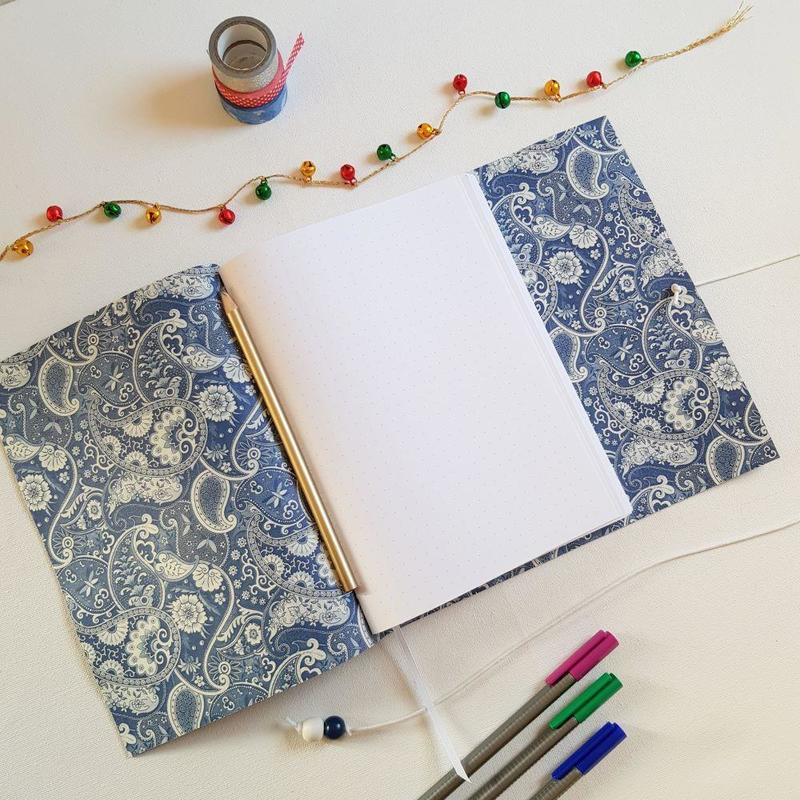 Dot Grid Journals are A5 size, from £37