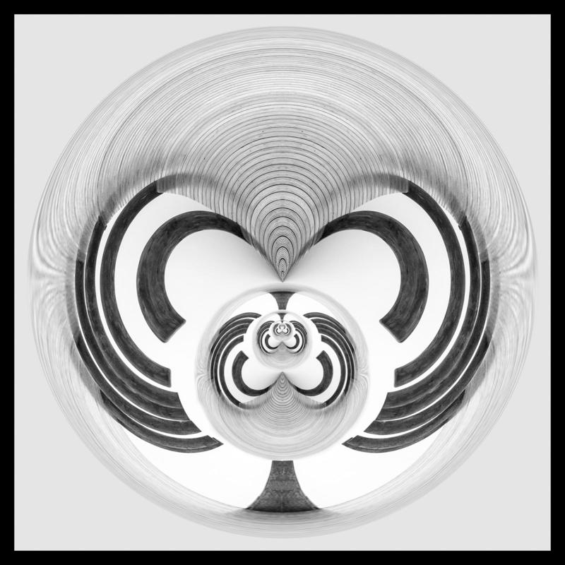 Monochrome abstract creating a mask