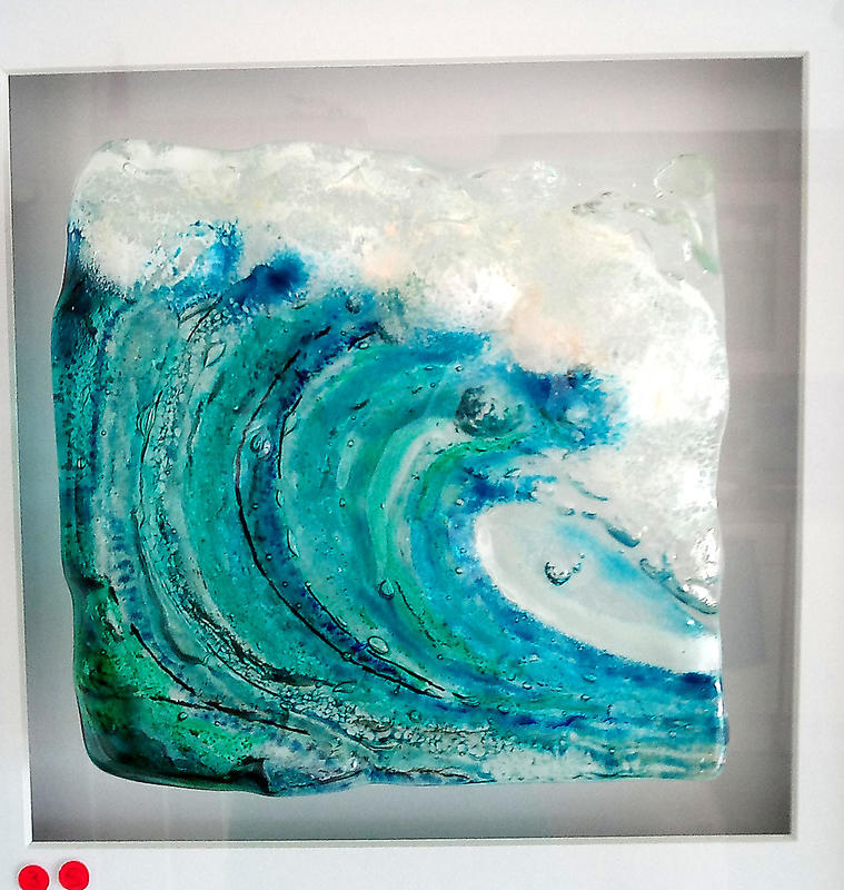 Wave in fused glass