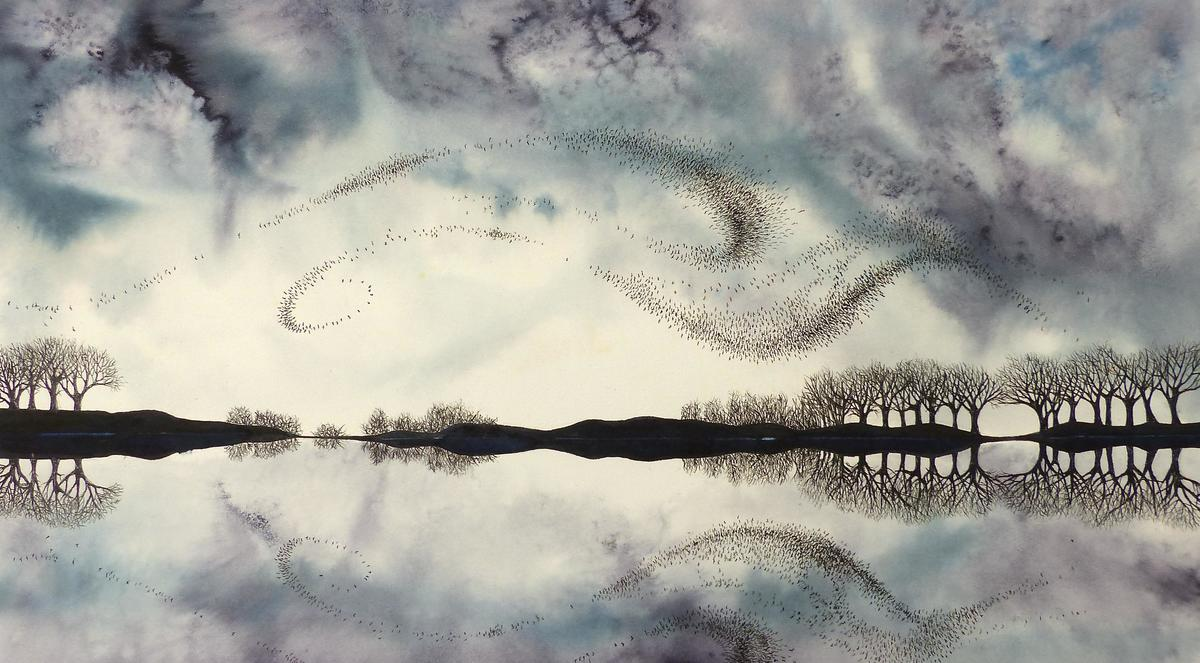 Winter: Stillness, ink