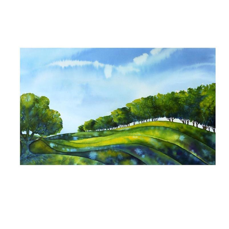 Summer: Midsummer Fields, ink
