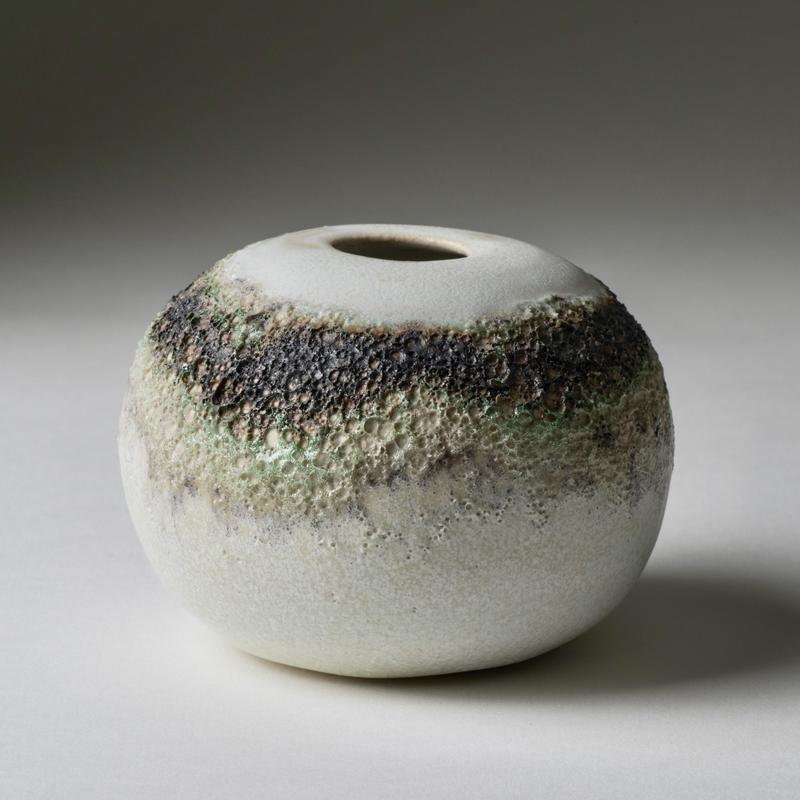 ball with rim of volcanic glaze; 9cm wide x7cm tall £18