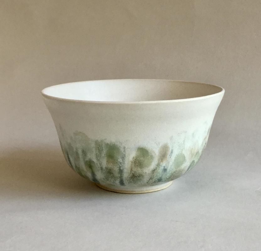 bowl with Impressionist base; 15x8cm; £18