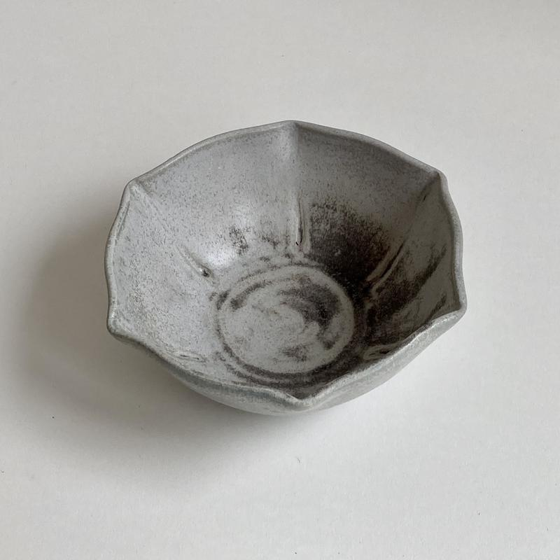 Grey/blue fluted bowl;16cm by 6cm h; £26