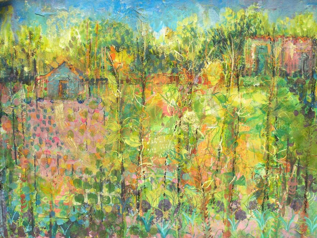 Autumn Allotments - limited edition Giclee Print