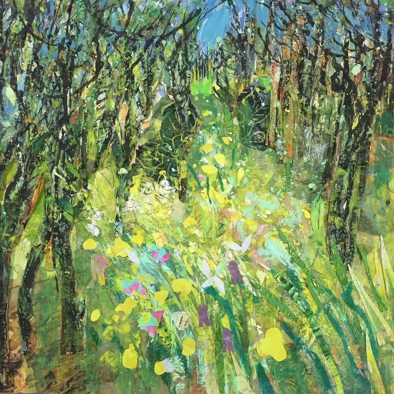 Buttercup Meadow _ mixed media