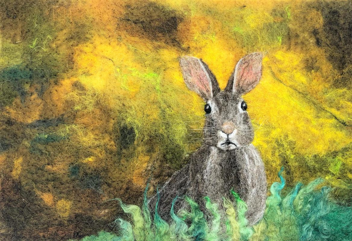 Hare on Yellow 2