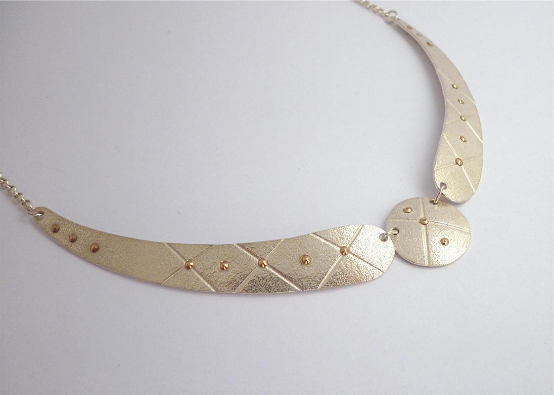 Silver and Rose Gold Necklace