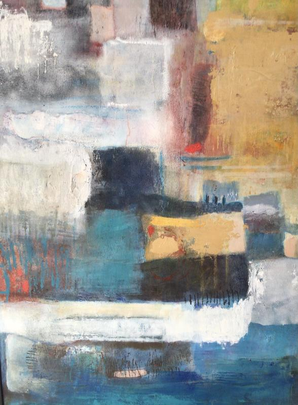 Harbour. Mixed media painting