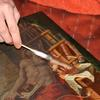 Painting conservation , oil painting cleaning