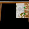 """British Trees in Colour"" - mid century teacher's desk featuring Oak, Poplar, Beech, Walnut and London Plane trees."
