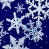 Snowflakes Linocut Christmas card