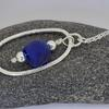 silver pendant with recycled glass bead £46