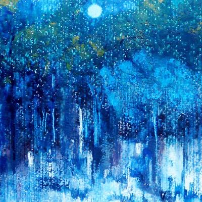 The Forest in Winter Moonlight