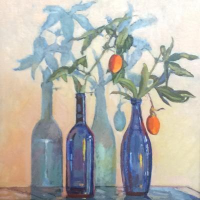 Blue Bottles oil £225 43x54cm