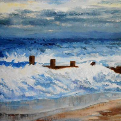Blowy Day   acrylic