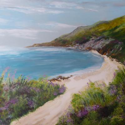 Coastal Journey  acrylic on canvas 50cm x 40cm  £150