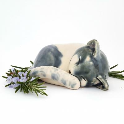 Sleeping cat. Stoneware ceramic. SOLD