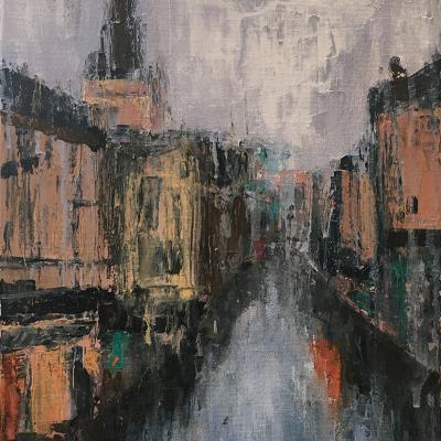 Rainy Day in Oxford (30.5 x 41cm) - £250