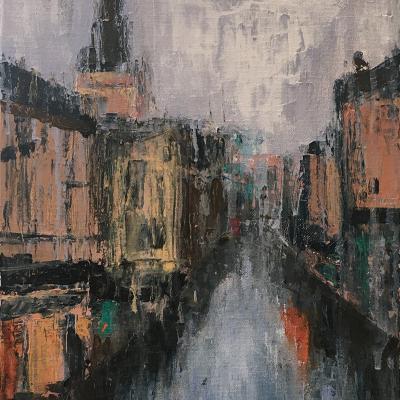 Rainy Day in Oxford (30.5 x 41cm) - £250