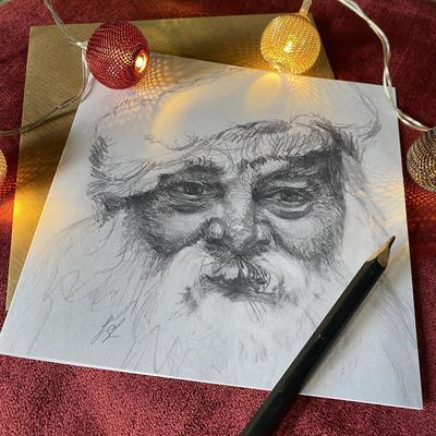 Jo Lillywhite Santa Xmas card £3