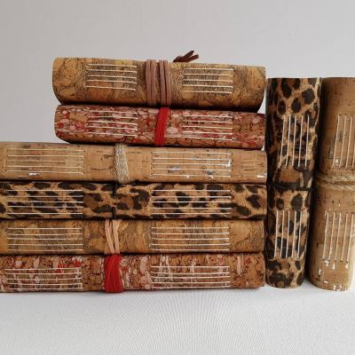 Hand bound in Cork, Eco-friendly and Vegan. A5 & A6 size from £25