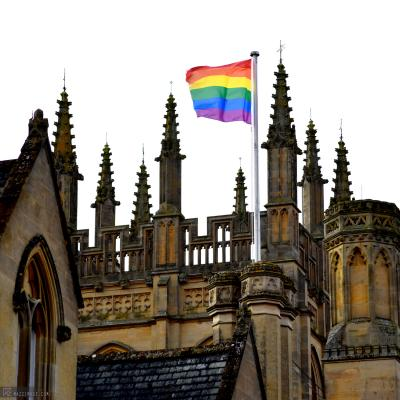 Rainbow Flag - Merton Street Oxford