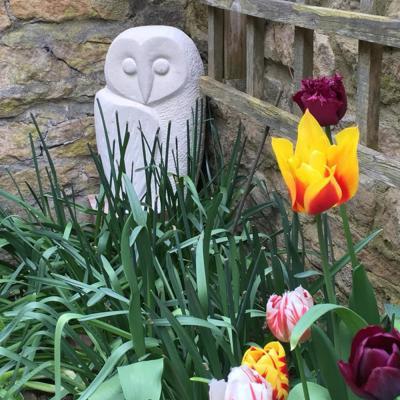 Owl, stone sculpture - NFS