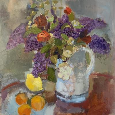 Lilac- oil on board