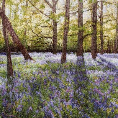 Debbie Farrell, Embroidery, Bluebell Wood