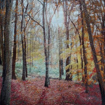 Debbie Farrell, Embroidery Autumn Wood