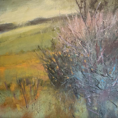 Blackthorn and willow. Acrylic on canvas . 60x60 cms