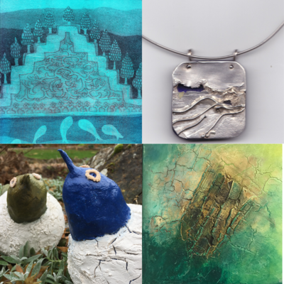 Print making, jewellery, sculpture & mixed media