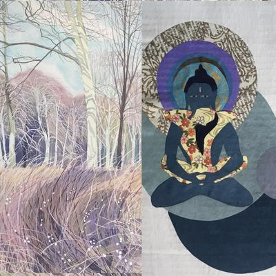 Swyncombe Snowberries and Collage Buddha