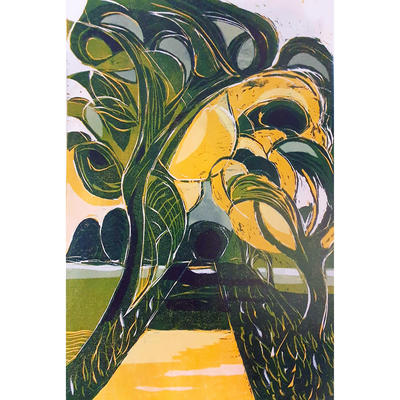 Avenue, Ardington, woodcut