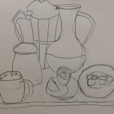 Still Life Sketch by Zac Weeks