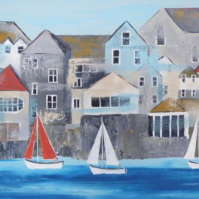 Red Sails, Falmouth. Acrylic on canvas. Framed 42cm x 32cm